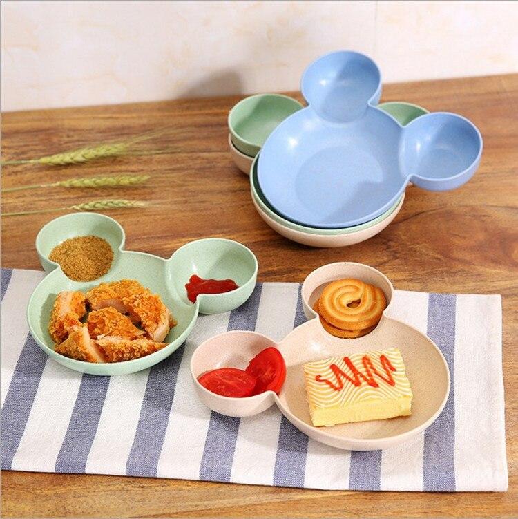 все цены на Mickey Bamboo Baby Tableware Kids Divided Bowl FOOD GRADE ECO Children Baby Plate Baby Feeding Dinnerware Eating Food Dishes онлайн
