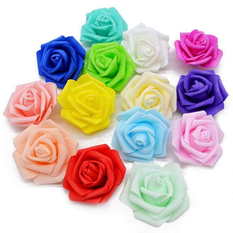 20 шт./лот, ручная работа, 6 см, искусственные пенные розы, ПЭ, розами для свадьбы, домашнего праздника, декоративные цветы для скрапбукинга