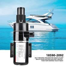 Pompe à déchets auto-amorçante, Macerator, évacuation des déchets, Protection sèche pour bateau, Yacht marin