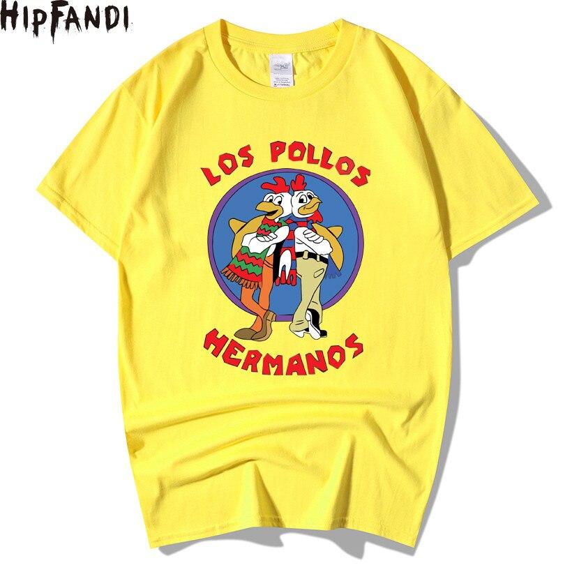 HIPFANDI Men's Fashion Breaking Bad Shirt 2018 LOS POLLOS Hermanos T-shirt Chicken Brothers Short Sleeve Hipster Hot Sale Tops