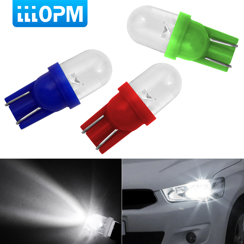 1pcs T10 W5W 194 168 LED Car Parking Side Signal Light License Plate Bulb Interior Reading Wedge Dome Turn Lamp 12V Car Styling