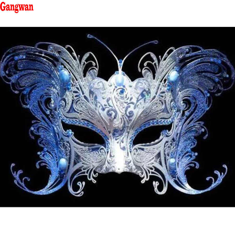 diamond painting woman mask,full square round diamond embroidery full display mosaic cross stitch needlework 5D diy home decor