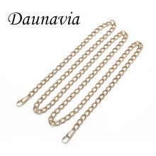 DAUNAVUA Metal Chain For Shoulder Bags Handbag waist bag Buckle Handle DIY Belt For Bag Strap Accessories Hardware Brand 120cm(China)