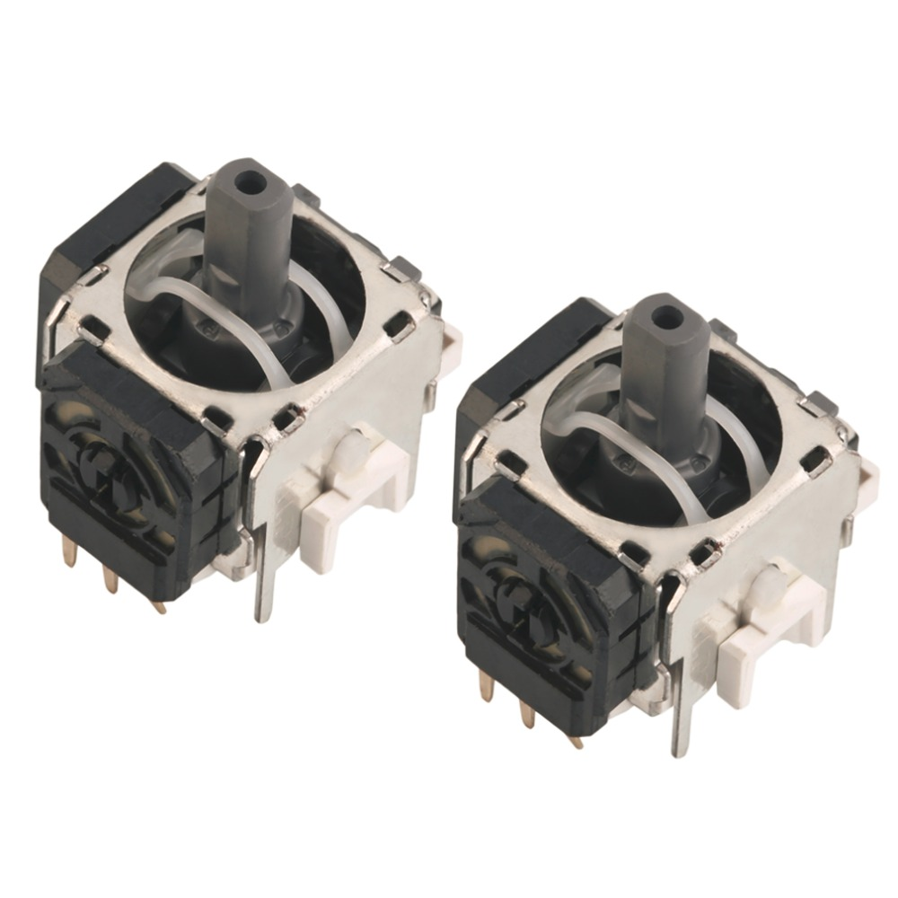 In Stock! 2pcs New Replacement Part 3D Controller Joystick For Playsta