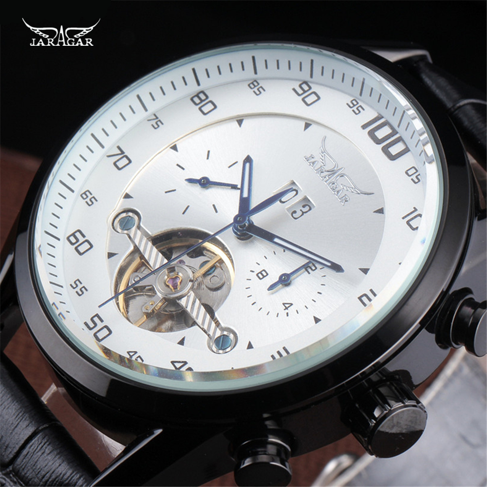 JARAGAR Casual Male Clock Military Business Tourbillon Skeleton Automatic Mechanical Sport Men Luxury Wrist Dress Watches jaragar brand casual male clock military business tourbillon skeleton automatic mechanical sport men luxury wrist dress watches