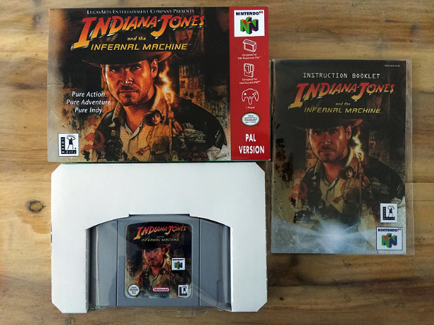 64Bit Games ** Indiana Jones and the Infernal Machine PAL Version ( box+manual+cartridge!! ) indiana jones and the sky pirates page 8
