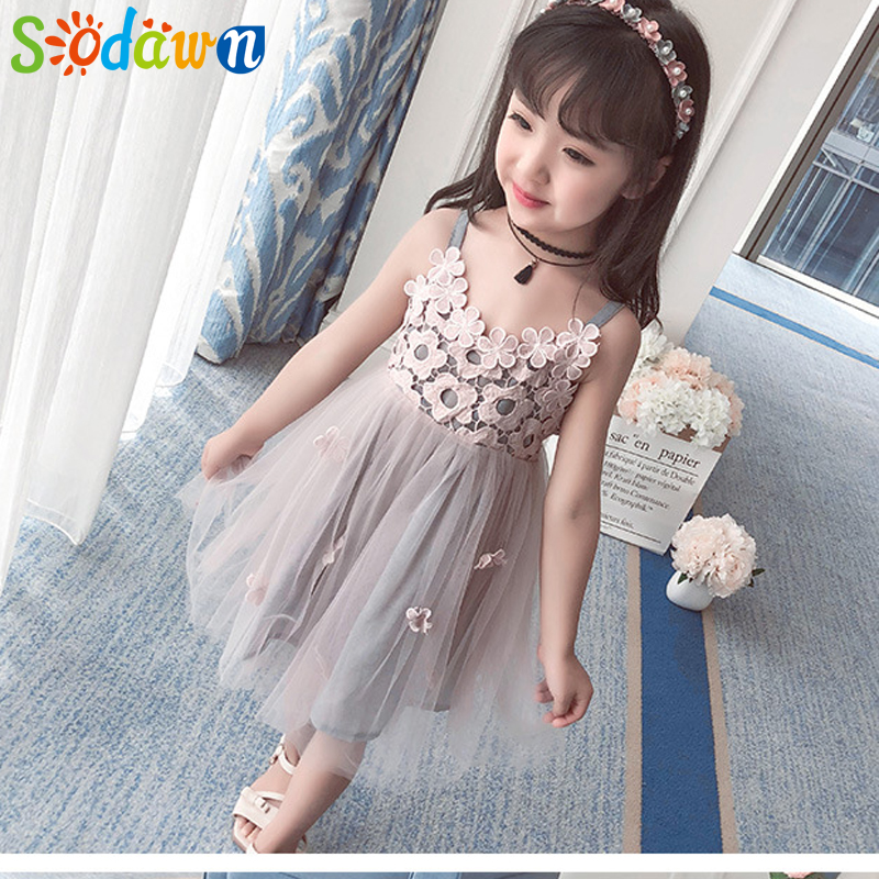 HTB17xa2yY1YBuNjSszhq6AUsFXa1 - Sodawn 2018 New Children Clothing Fashion Girls Dress Lace Fluffy Pop Princess Dresses Baby Girls Clothing Summer New Kids Dress
