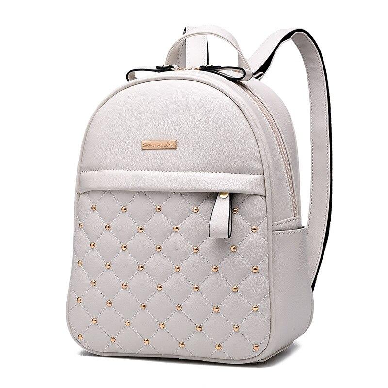 9afc28f087a Women Backpacks 2018 Hot Sale Fashion Causal bags High Quality bead female  shoulder bag PU Leather Backpacks Girls,mochila 627