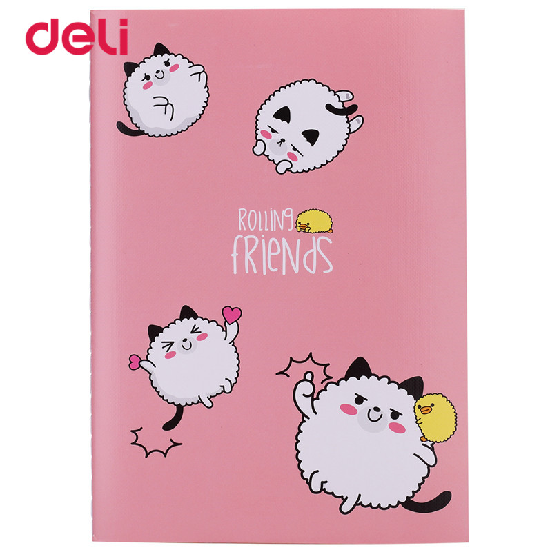 Deli 2017 School Notebooks Office Stationery 40 Sheets Cartoon Book Kawaii 4 Patterns Notebook For Kids Cute Notebooks Writing