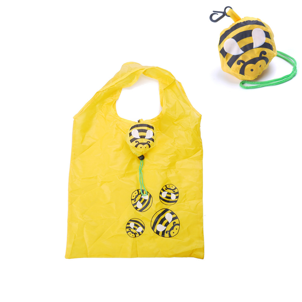 Casual Flodable Polyester Shopping Bags Environmental Protection Cartoon Printing Animal Prints Bee Special Purpose Bags turn down collar colorful polka dot print long sleeve shirt for men