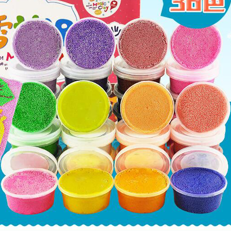 Hot 24 Colors Play Foam Light Soft Colored Modeling Clay Magic Air Dry slime Plasticine Play Set Playdough With Free Molds playdough clay dough ice cream mould play kit educational play doh plasticine diy toy