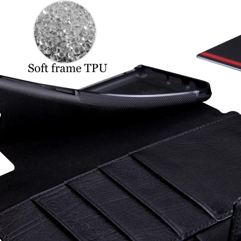 Pierre Cardin En Cuir Véritable Livre Magnétique Flip étui pour samsung Galaxy Note 8 Luxe Étui Portefeuille porte-carte Téléphone Funda - 6