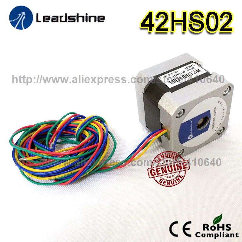Free Shipping GENUINE Leadshine stepper motor 42HS02 High Performance 2 Phase NEMA 17 with 31.2 OZ IN Torque 0.22 N.m