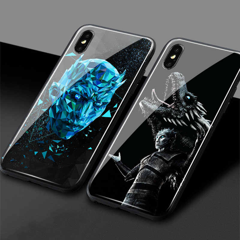 Night King Game of Throne GOT poster Soft Silicone Glass For iPhone 5 5s Se 6 6s 7 8 Plus X XR XS 11 Pro MAX Phone Case Cover