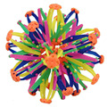 1 pcs funny kid adult telescopic ball toy expanding sphere mini rainbow colorful flower magic ball kids children toys 2 size