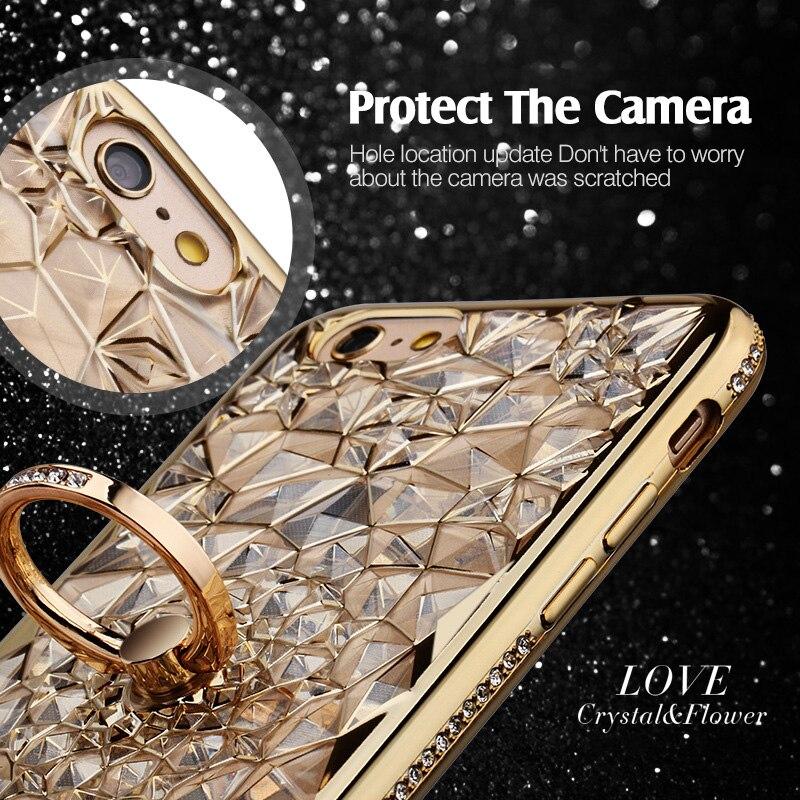 För iPhone 6S Fodral Glitter Crystal Rhinestone Bling Väska för - Reservdelar och tillbehör för mobiltelefoner - Foto 4
