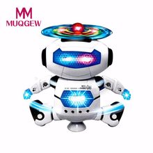 MUQGEW Funny Kids Toy Electronic Walking Dancing Smart Space Robot Astronaut Kids Music Light Toys(China)