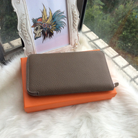 2016 Woman Wallets Luxury Design High Quality Togo Genuine Leather 20cm Famous Brand Card Holder Long