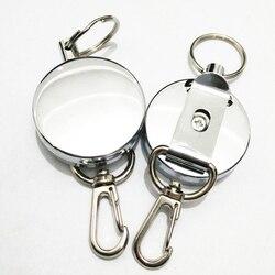 Новый выдвижной брелок для ключей ID значок шнурок имя бирка держатель карты пружинная катушка Зажим для ремня металлический корпус металли...