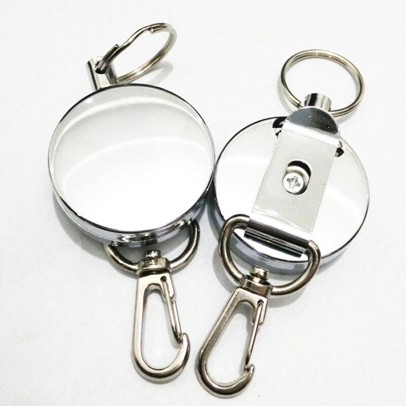 New Retractable Pull Key Ring ID Badge Lanyard Name Tag font b Card b font font