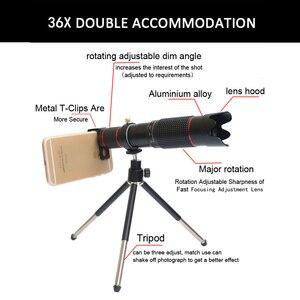 Image 3 - 2019 nowy 36X kamery telefonu komórkowego teleobiektyw zmienoogniskowy HD okular soczewki teleskopu statyw z zdalna migawka dla wszystkich smartfonów