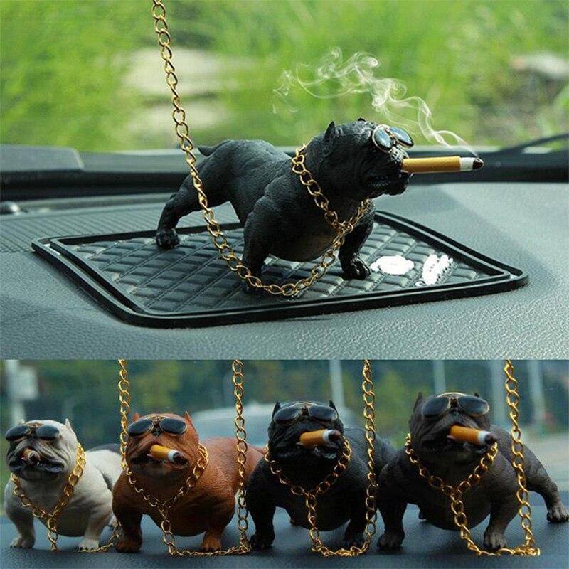 Sammlung Hier Auto Hund Harz Bulldog Dekoration Kreative Auto Innen Mode Simulation Hund Puppe Innen Zubehör Ornamente Rogue Hund