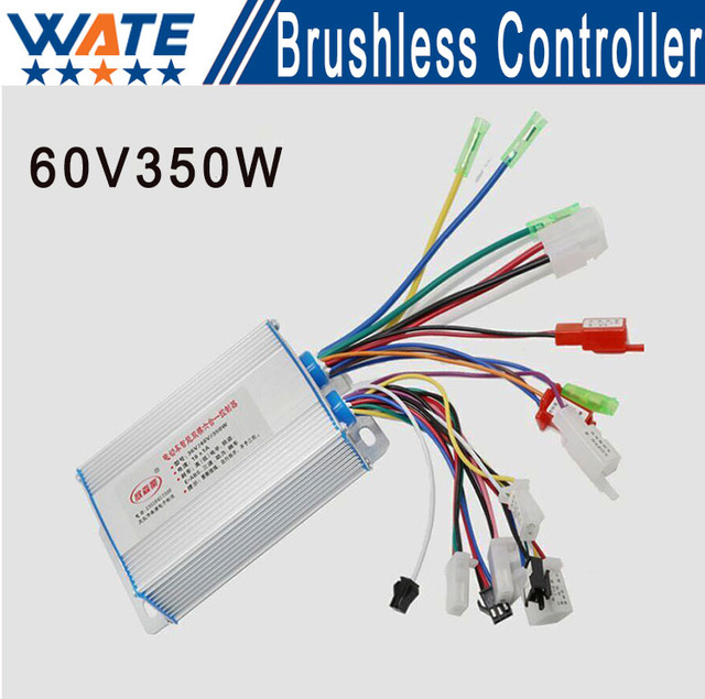 350 W multifunction 60 V DC brushless motor controller and mofset 6 speed control of electric bicycle