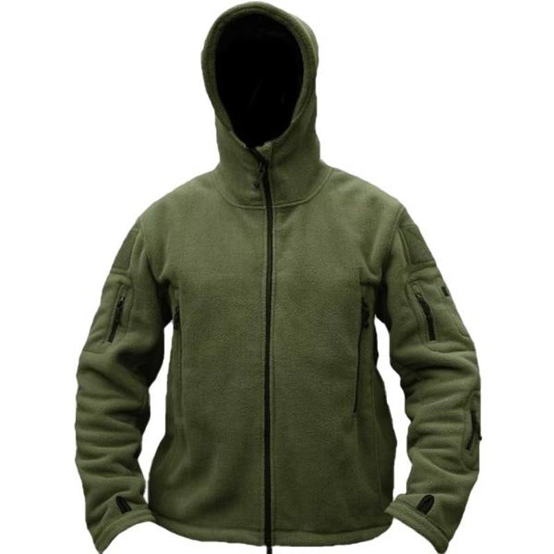 Pria Taktis Militer Musim Dingin Bulu Berkerudung Jaket Softshell - Pakaian Pria - Foto 6