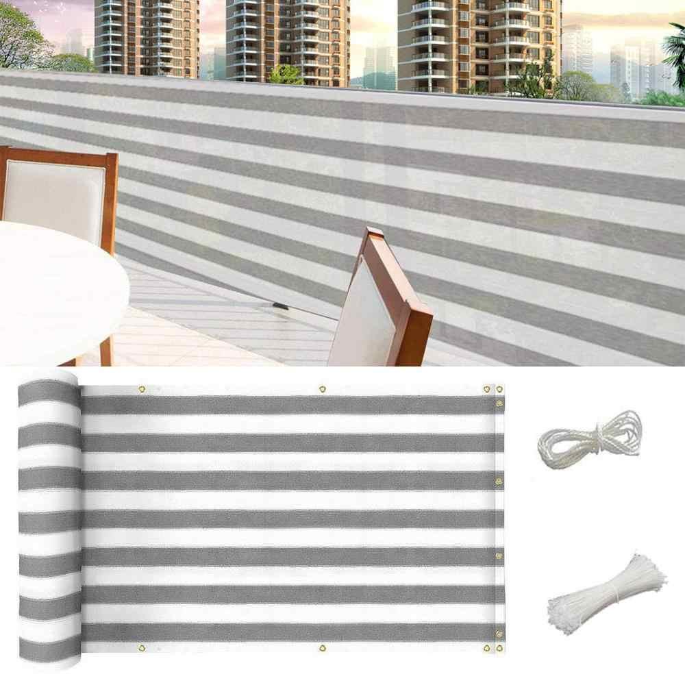 Drut płaski ogrodzenia prywatności netto dla domu balkon ekran zasłaniający ence Deck cień żagiel stoczni pokrywa UV krem z filtrem przeciwsłonecznym wiatr bezpieczne dla dzieci # 15F