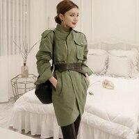 Women Spring Autumn Army Green Military Coat Jacket Womens Jackets Casual Female Coats