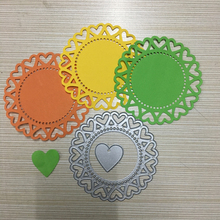 Circle lace Craft metal cutting dies cut die Beautiful lace mold Scrapbook paper craft knife mould blade punch stencils die