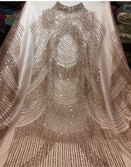 Aliexpress.com   Buy 5 yards new bzh0011 black champagne nude gold color  glued sparkle glitter mesh tulle lace fabric for sawing  evening dress from  ... ee16276e8647