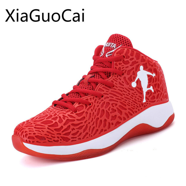 Cool Mens Cut Outs Basketball Shoes High Top Air Mesh Basket Boost