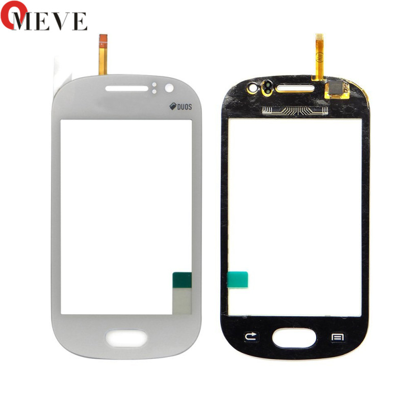 High Quality 3.5 For Samsung Galaxy Fame S6810 S6812 Touch Screen Digitizer Sensor Outer Glass Lens Panel Blue White