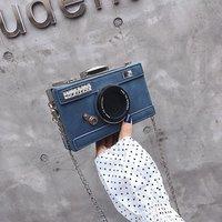 Индивидуальный Дизайн Мода в форме камеры клатч нубук сумка на плечо Женская Повседневная мини Курьерская сумка, кошелек