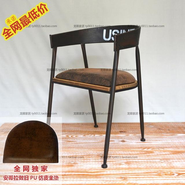 Chaise De Bureau Style Industriel #5: Loft Pays Du0027amérique Pour Faire Le Vieux Style Industriel Vintage Bois Avec  Des Chaises