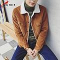 Men's Retro Cotton Padded Corduroy Wool Lamb Male Cotton Coat 2016 Autumn And Winter New autumn Jackets Blue Khaki Size M-XXL