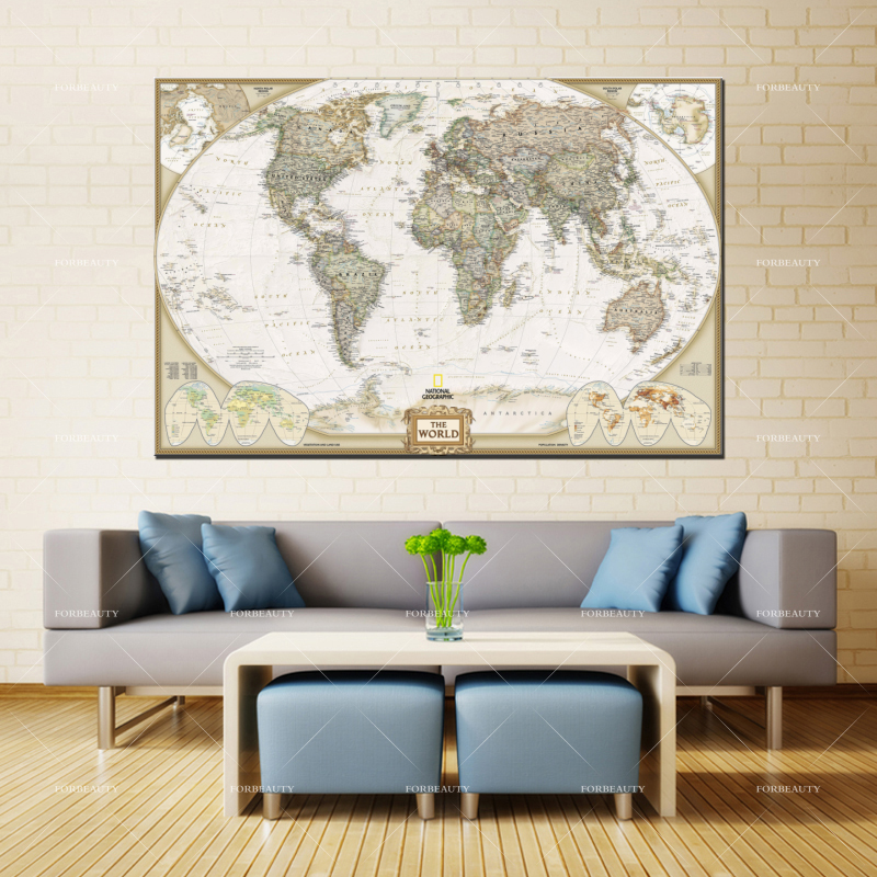 Wall Art PD137 World Map Wall Decor Creative World Map Wall Art Stickers