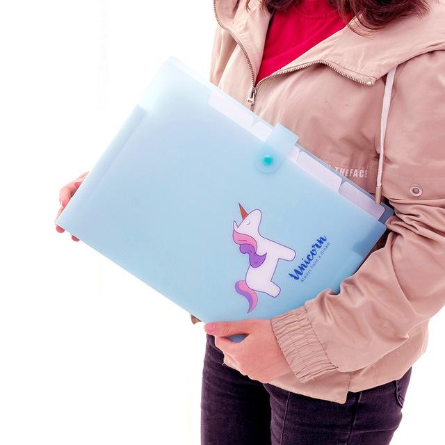 Kawaii Unicorn Printed File Folder