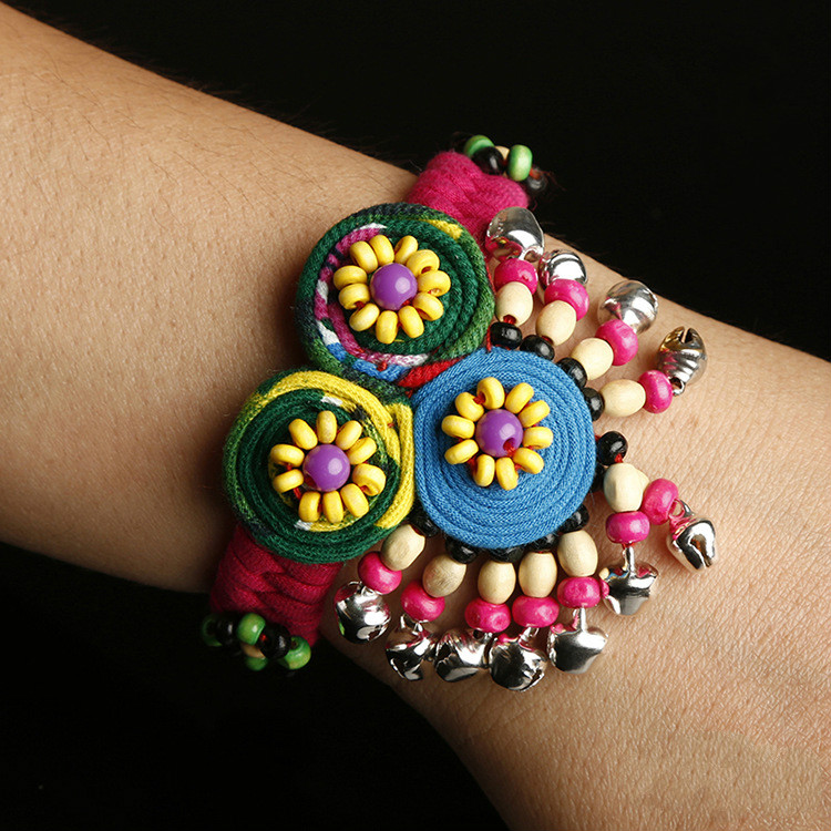 Hand woven beaded embroidery features ladies bracelet special cloth bracelet in Beaded Cross Stitch from Home Garden