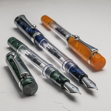 WANCHER CRYSTAL II Generation Multiple Filling Transparent Metal Body F/M Nib Fountain Pen FROM JAPAN [LEISURE & COLLECTION]