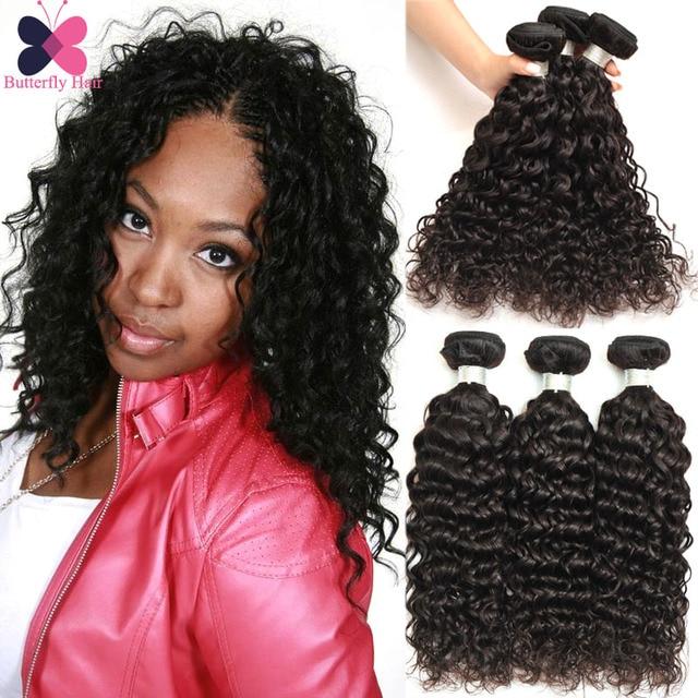 Water Wave Virgin Hair Mink Brazillian Human Hair Extensions Uk Remy