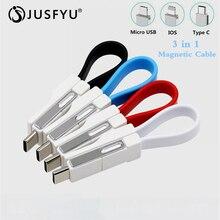 Mini Keychain For iPhone iPad Type C Micro USB Cable Multi-F