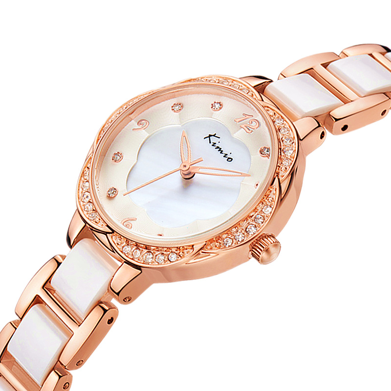 100% kimio top brand luxury women quartz-watch stainless steel ladies Analog bracelet watch women montre femme de marque clock