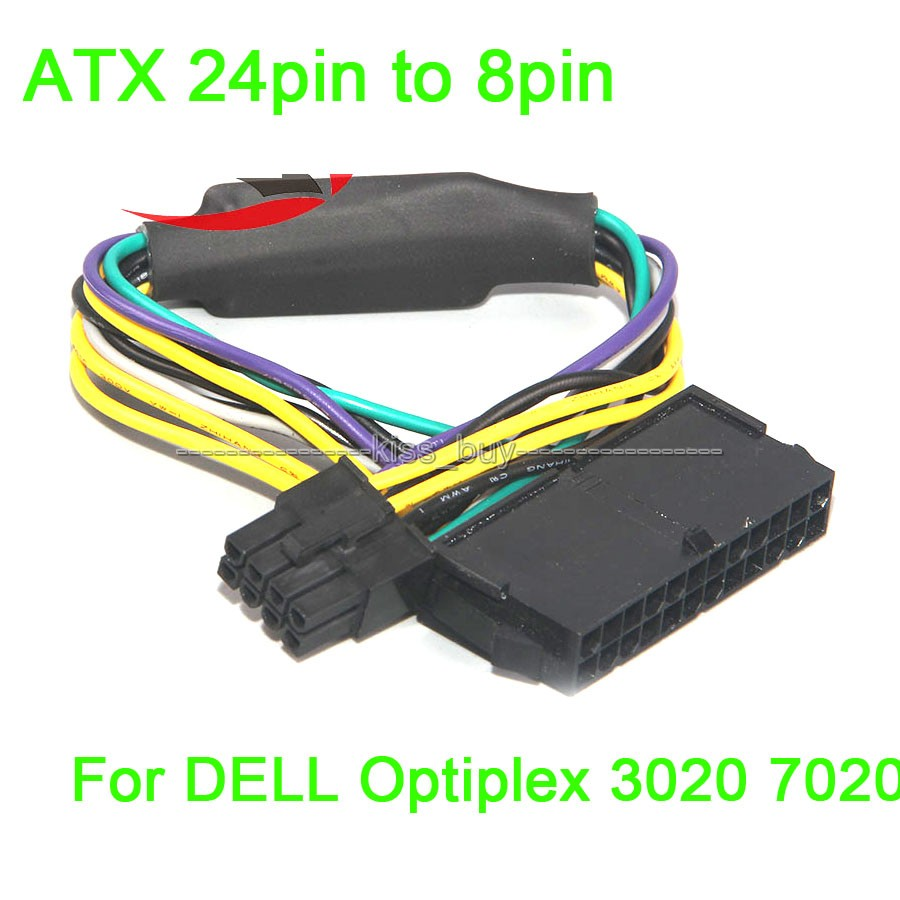 Atx 24pin To 8pin Power Supply Cable 18awg For Dell Optiplex 3020 Color Wiring Diagram 7020 9020 In Integrated Circuits From Electronic Components Supplies On