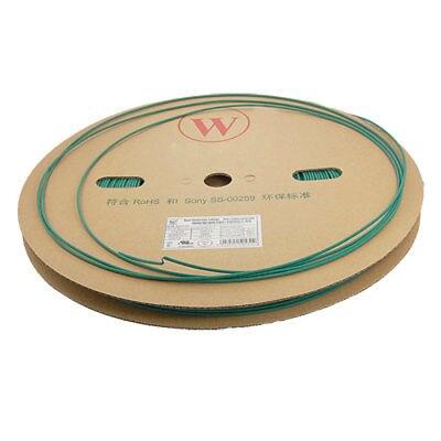 2.0mm Diameter 200 Meters Green Heat Shrinkable Tubing Tube retardant heat shrink tubing shrinkable tube diameter cables 120 roll sale