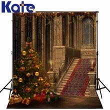 christmas backdrops photography The Christmas tree hall child 5x7ft(1.5×2.2m) fotografie ZJ