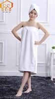 Süper emici kadınlar banyosu towel duş kap kombinasyon paketleri giyilebilir mikrofiber kumaş plaj towel sıcak satış