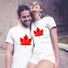 Camiseta de Día de Canadá para mujer, Camiseta cómoda de ocio Harajuku para mujer, camiseta hecha en Canadá, camiseta de moda 2019