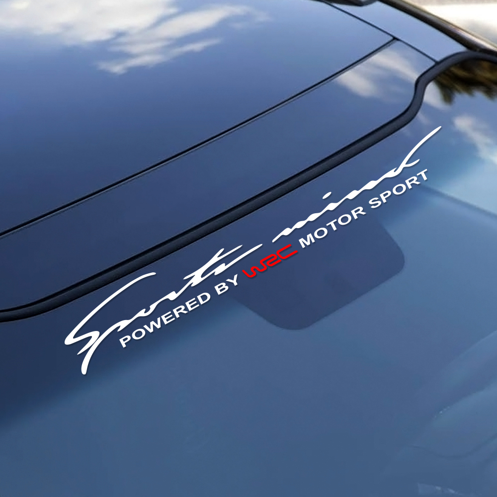 Car Front Rear Windshield WRC Sticker For Audi A3 A4 B8 B6 B7 Opel Astra Ford Focus 2 3 1 BMW E46 E90 E60 E39 F30 Toyota Peugeot